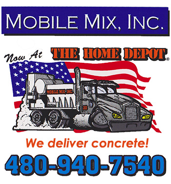 MobileMix Logo. Concrete and sand delivery